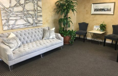 Mango Dental's comfortable and modern waiting room