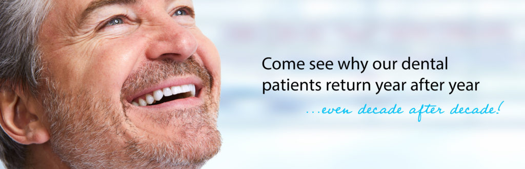 Dental patients return year after year to Dr. Mike Mango's dentist office in Greensboro, NC